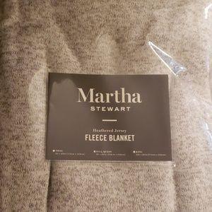 Martha Stewart fleece blanket full/queen new